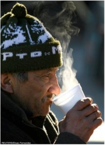 Homeless Coffee Drinker
